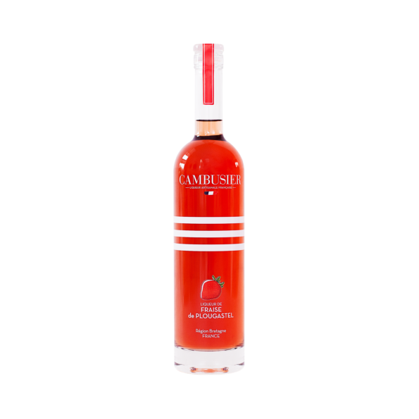 "<strong> Plougastel Strawberry Liqueur  </strong> </br> <p class=""region""> Brittany region </p>"